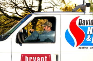 David's Heating and Cooling Van